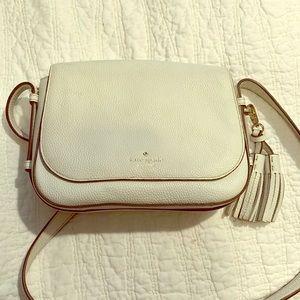 Kate Spade White Pebbled Leather Handbag